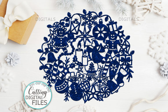 Assorted Christmas Ball Paper Cut Graphic Crafts By Cornelia - Image 1