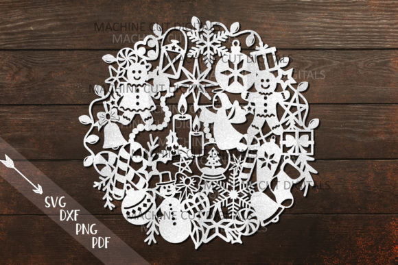 Assorted Christmas Ball Paper Cut Graphic Crafts By Cornelia - Image 3
