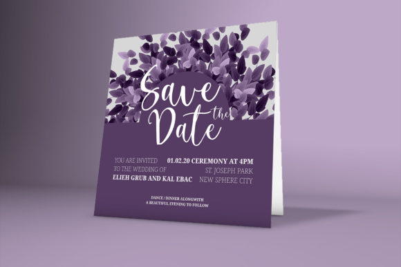 Print on Demand: Wedding Card with Beautiful Floral Frame Graphic Graphic Templates By PatternHousePk