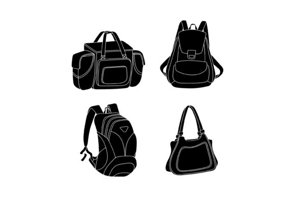 Print on Demand: Bag Silhouette Vector Design Graphic Graphic Templates By sabavector