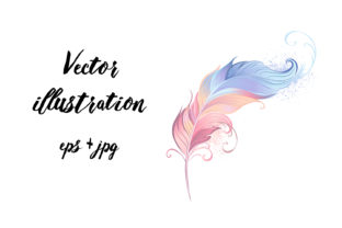 Download Free Elegant Powder Feather Graphic By Blackmoon9 Creative Fabrica SVG Cut Files
