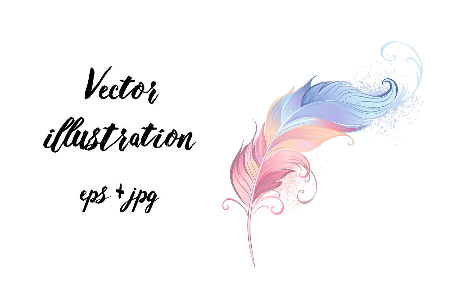 Download Free Elegant Powder Feather Graphic By Blackmoon9 Creative Fabrica for Cricut Explore, Silhouette and other cutting machines.