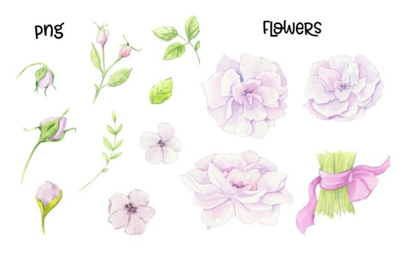 Print on Demand: Hand Made – Watercolor  Clip Art Graphic Illustrations By nicjulia - Image 3