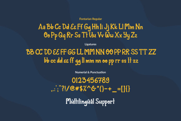 Print on Demand: Fontarian Sparkling Display Font By Orenari - Image 3