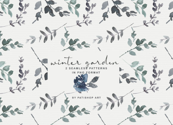 Icy Blue Watercolor Floral Clipart Set Graphic Illustrations By Patishop Art - Image 3