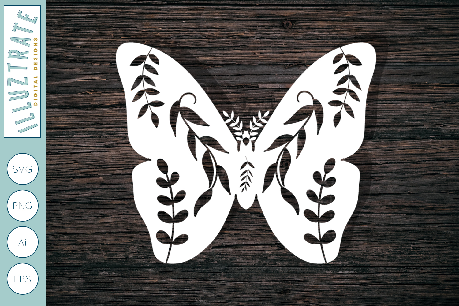 Download Free Detailed Butterfly Graphic By Illuztrate Creative Fabrica for Cricut Explore, Silhouette and other cutting machines.