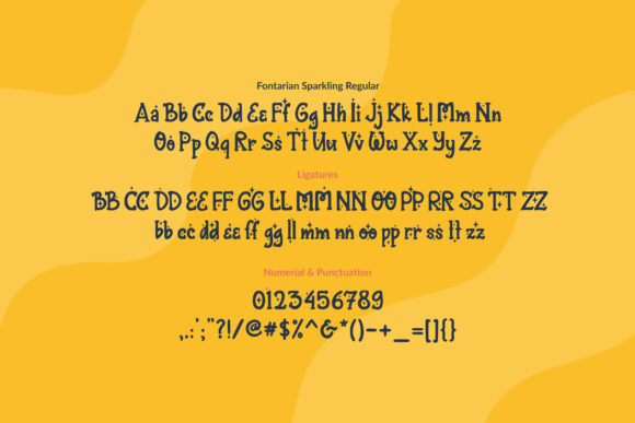 Print on Demand: Fontarian Sparkling Display Font By Orenari - Image 4