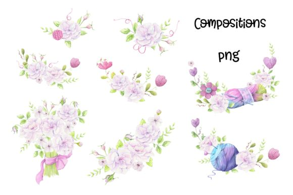 Print on Demand: Hand Made – Watercolor  Clip Art Graphic Illustrations By nicjulia - Image 5
