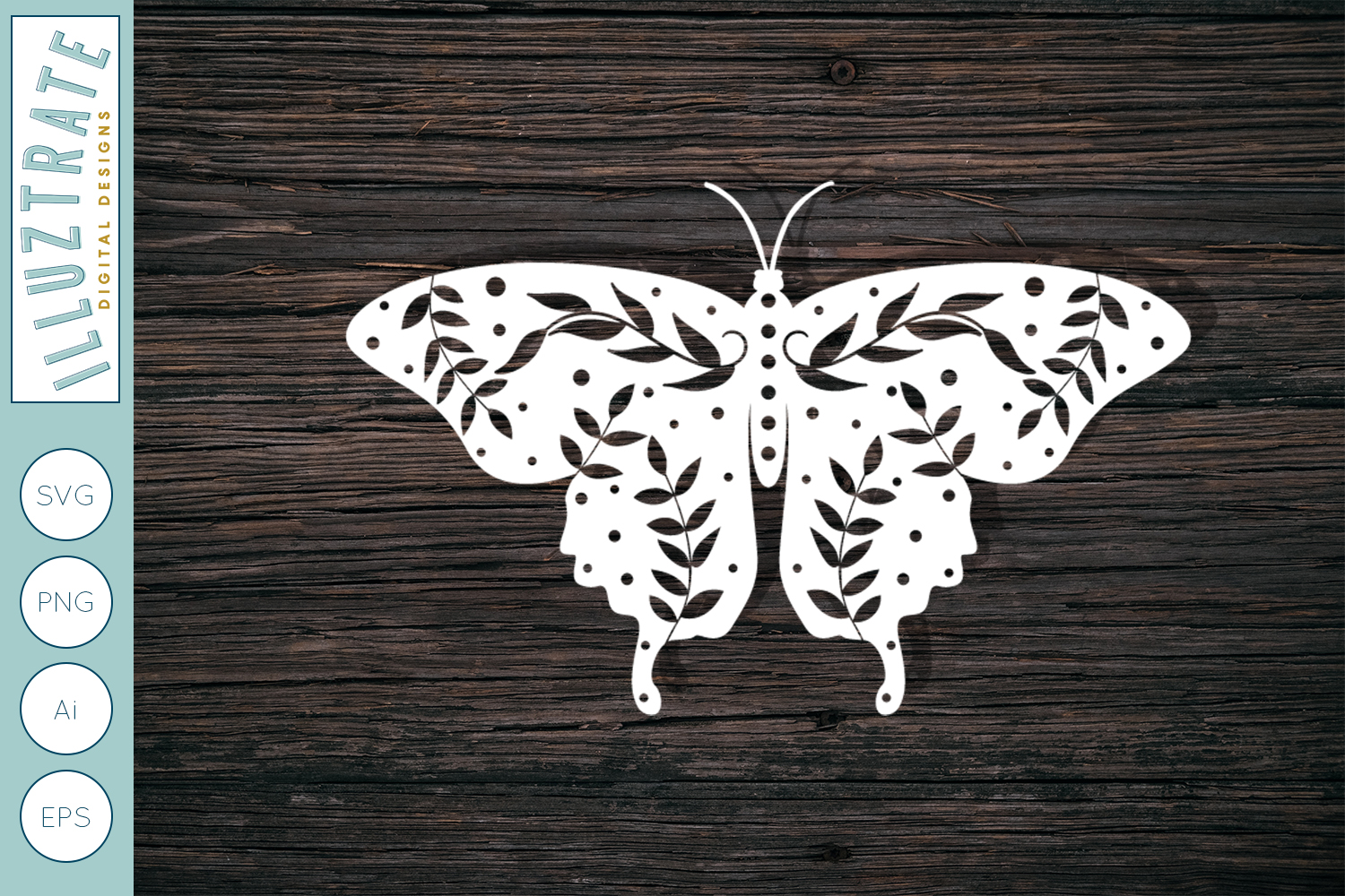Download Free Paper Cutting Butterfly Template Graphic By Illuztrate for Cricut Explore, Silhouette and other cutting machines.