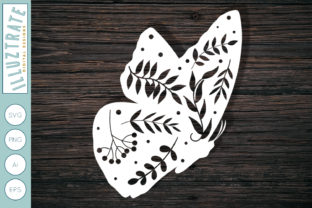 Download Free Floral Butterfly Cut File Graphic By Illuztrate Creative Fabrica for Cricut Explore, Silhouette and other cutting machines.