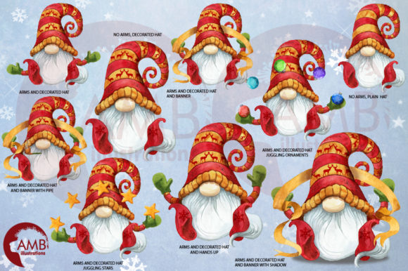 Christmas Gnomes Watercolor Super Bundle Graphic Illustrations By AMBillustrations - Image 4
