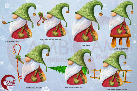 Christmas Gnomes Watercolor Super Bundle Graphic Illustrations By AMBillustrations - Image 5
