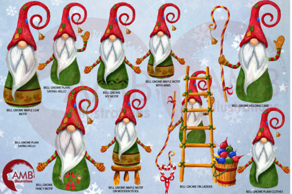Christmas Gnomes Watercolor Super Bundle Graphic By AMBillustrations Image 6