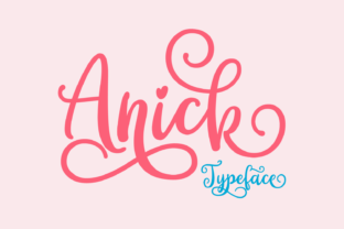 Print on Demand: Anick Script & Handwritten Font By Situjuh