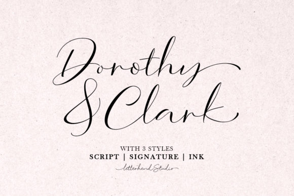 Print on Demand: Dorothy Clark Script Script & Handwritten Font By letterhend