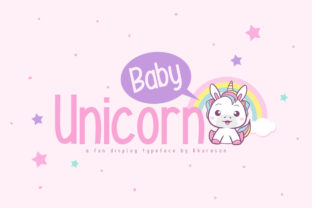 Baby Unicorn Display Font By Khurasan