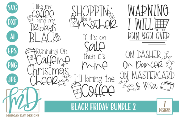 Black Friday Bundle 2 Graphic Crafts By Morgan Day Designs