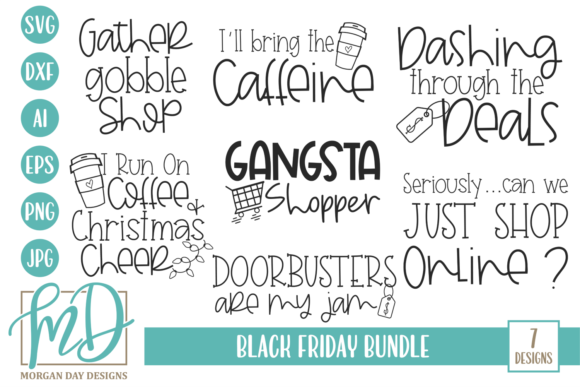 Black Friday Bundle Graphic Crafts By Morgan Day Designs