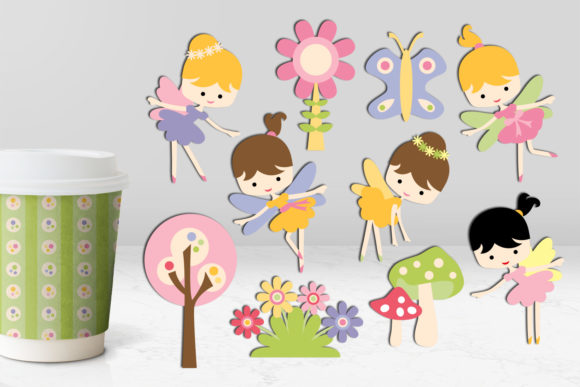 Print on Demand: Spring Fairy Graphic Illustrations By Revidevi - Image 1