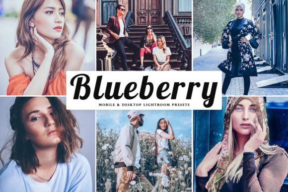 Print on Demand: Blueberry Lightroom Presets Pack Graphic Actions & Presets By Creative Tacos