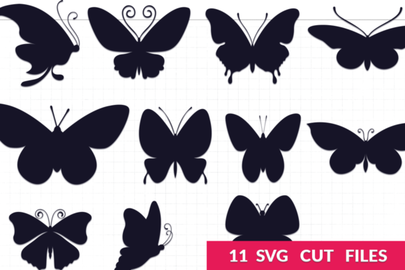 Download Free Butterfly Silhouettes Pack Graphic By Craft N Cuts Creative SVG Cut Files