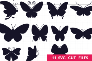 Download Free Butterfly Silhouettes Pack Graphic By Craft N Cuts Creative for Cricut Explore, Silhouette and other cutting machines.