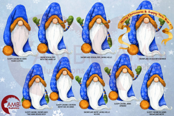 Christmas Gnomes Watercolor Super Bundle Graphic Illustrations By AMBillustrations - Image 7