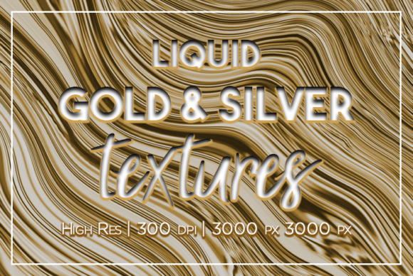 Print on Demand: Liquid Gold and Silver Textures Graphic Textures By La Oliveira - Image 1