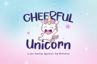 Cheerful Unicorn Display Schriftarten von Khurasan