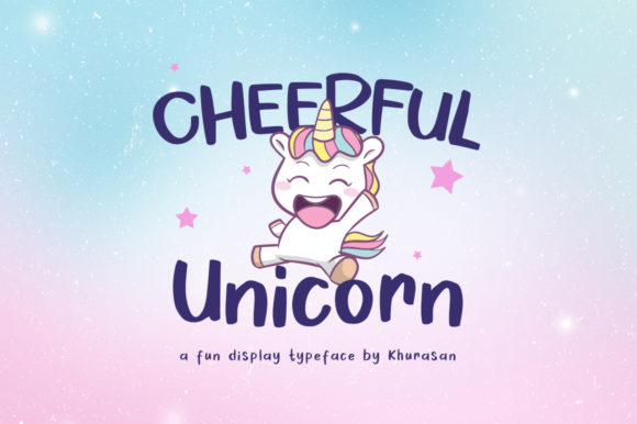 Cheerful Unicorn Display Font By Khurasan