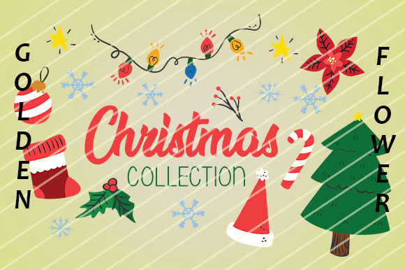 Download Free Christmas Collection Ornament Graphic By Goldenflower Creative for Cricut Explore, Silhouette and other cutting machines.