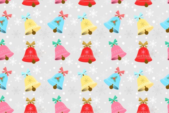 Download Free Christmas Bell Pattern Graphic By Ranger262 Creative Fabrica for Cricut Explore, Silhouette and other cutting machines.