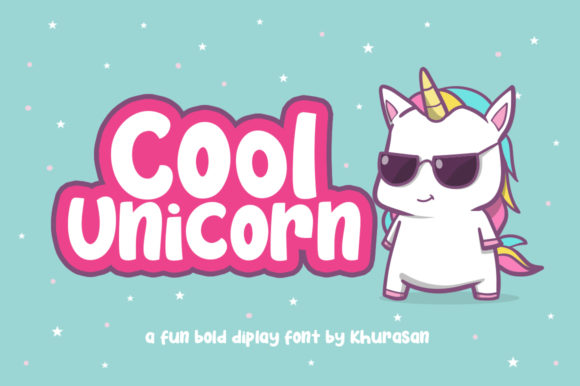 Cool Unicorn Display Font By Khurasan