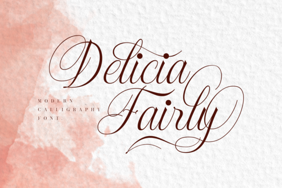 Print on Demand: Delicia Fairly Script & Handwritten Font By Dani (7NTypes)