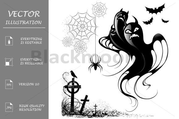 Design Elements for Halloween Graphic Illustrations By Blackmoon9