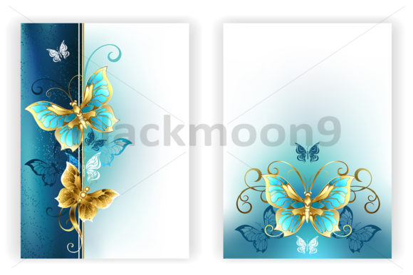 Design for Brochure with Butterflies Graphic Graphic Templates By Blackmoon9