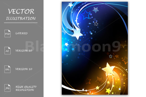 Design with Contrasting Stars Graphic Illustrations By Blackmoon9