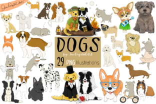 DOGS - BIG GRAPHICS SET | 29 PNG Images Graphic By Jen Digital Art