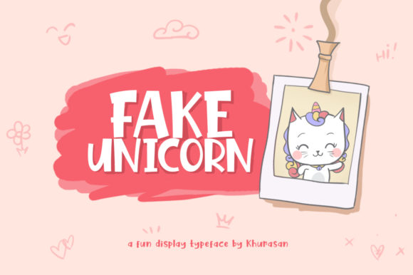 Print on Demand: Fake Unicorn Display Font By Khurasan