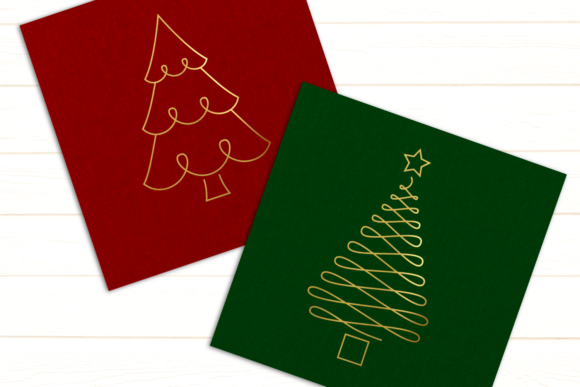 Christmas Tree Duo Single Line Graphic Crafts By DesignedByGeeks