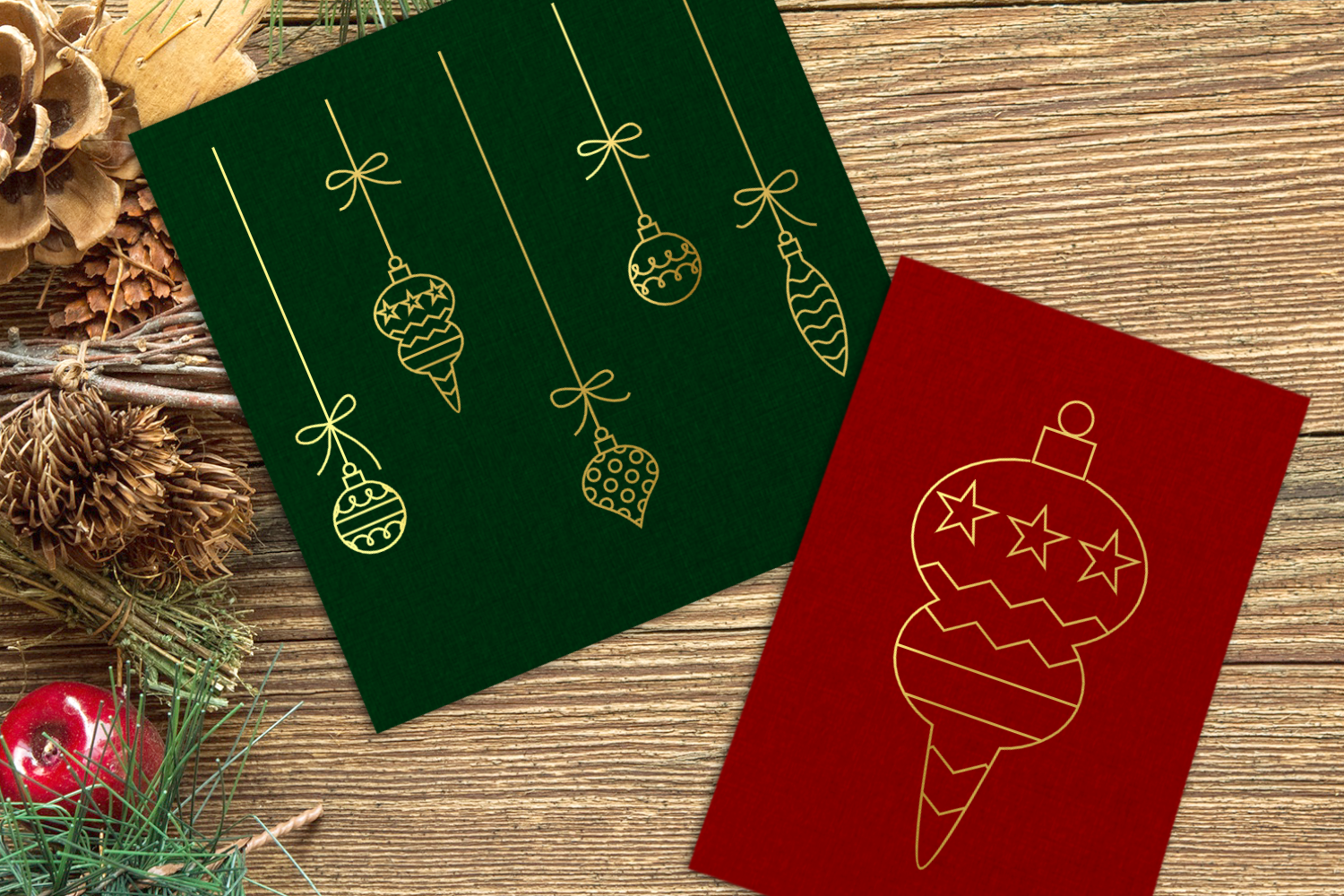Download Free Christmas Ornaments Single Line Graphic By Designedbygeeks for Cricut Explore, Silhouette and other cutting machines.
