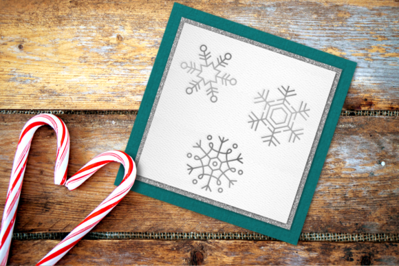 Snowflake Trio Single Line Graphic Crafts By DesignedByGeeks