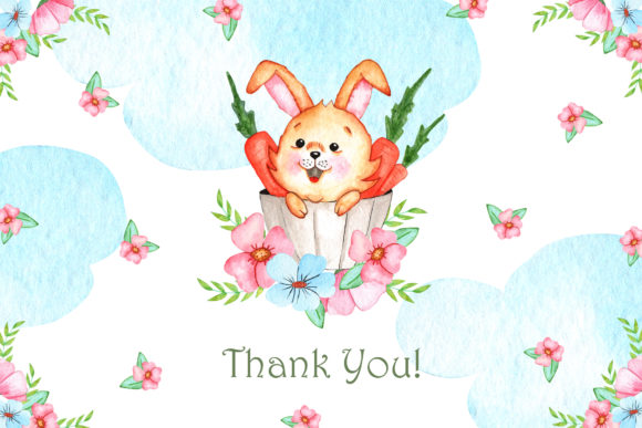 Print on Demand: Watercolor Little Bunnies Illustrations Graphic Illustrations By tanatadesign - Image 7