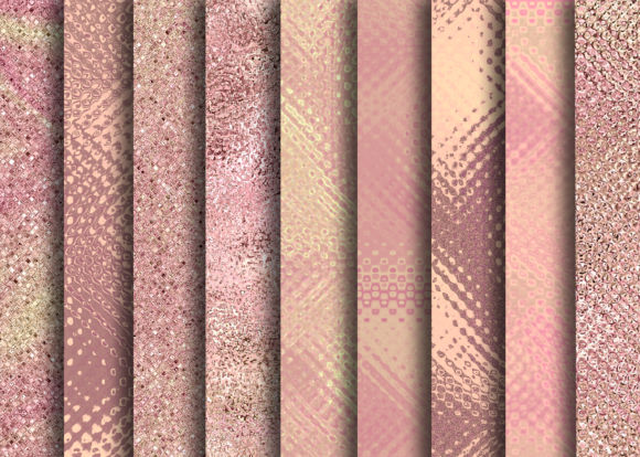 Print on Demand: Golden and Rose Textures Graphic Textures By La Oliveira - Image 2