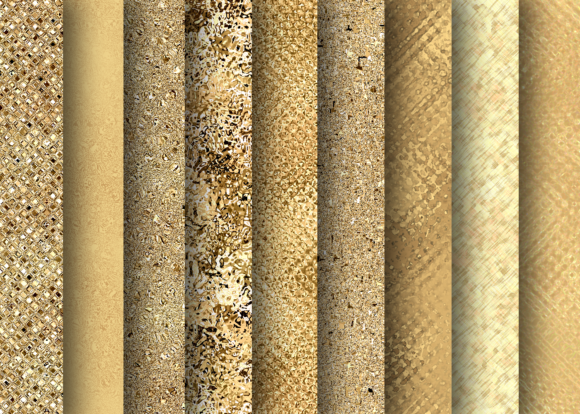 Print on Demand: Golden and Rose Textures Graphic Textures By La Oliveira - Image 3
