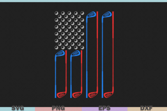 Golf With Usa Flag Graphic By Graphicza Creative Fabrica