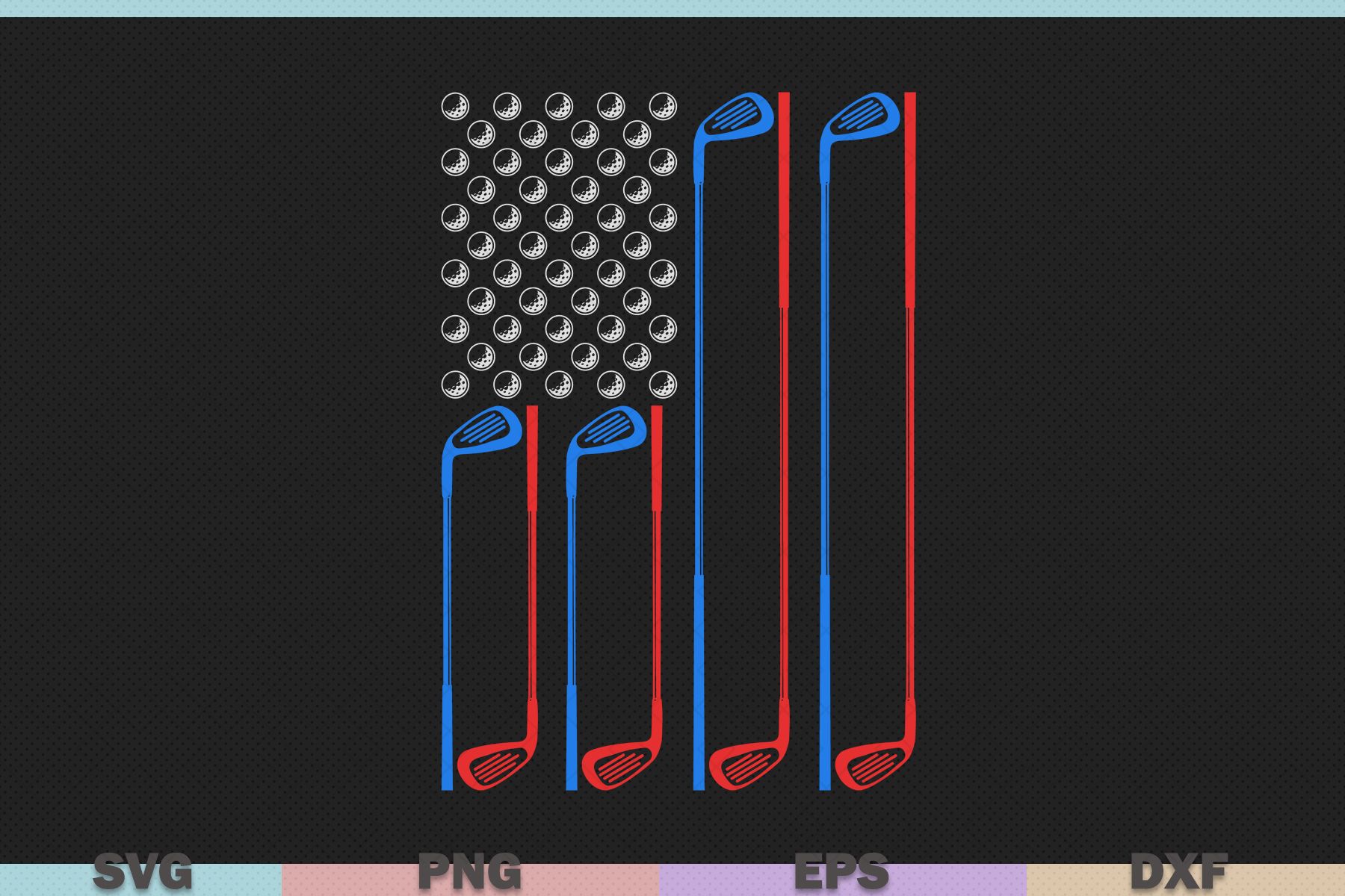 Download Free Golf With Usa Flag Graphic By Graphicza Creative Fabrica for Cricut Explore, Silhouette and other cutting machines.