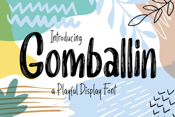 Print on Demand: Gomballin Display Font By semuthitam - Image 1