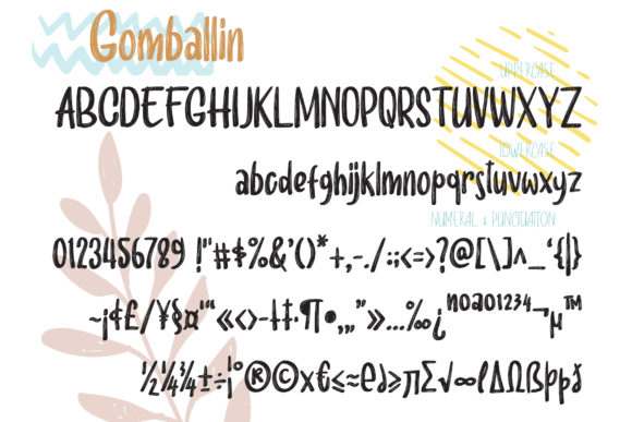 Print on Demand: Gomballin Display Font By semuthitam - Image 7