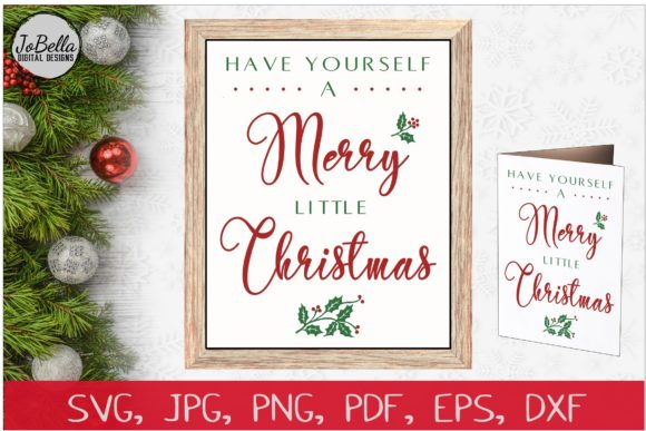 Download Free Merry Little Christmas Graphic By Jobella Digital Designs for Cricut Explore, Silhouette and other cutting machines.